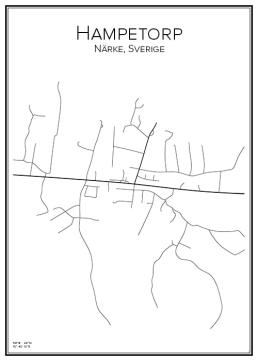 Stadskarta över Hampetorp