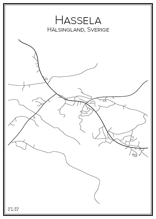 Stadskarta över Hassela