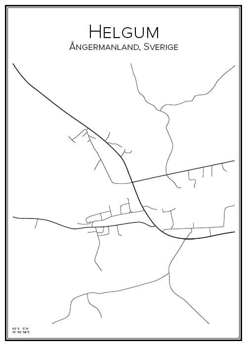 Stadskarta över Helgum