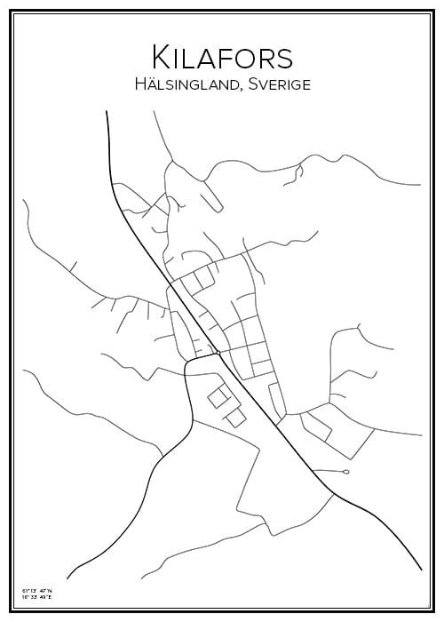 Stadskarta över Kilafors