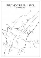 Stadskarta över Kirchdorf In Tirol