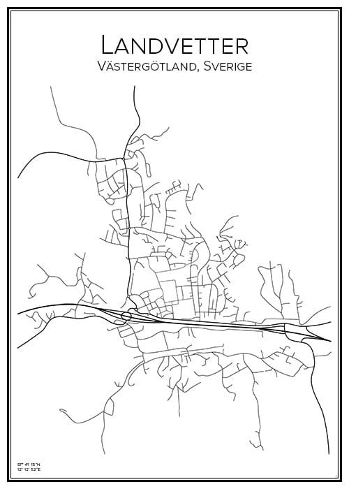 Stadskarta över Landvetter