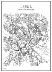 Stadskarta över Leeds