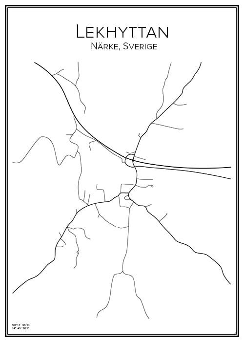 Stadskarta över Lekhyttan