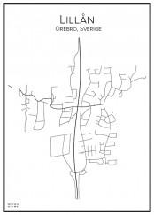 Stadskarta över Lillån