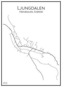 Stadskarta över Ljungdalen