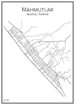 Stadskarta över Mahmutlar