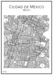 Stadskarta över Mexico City
