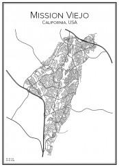 Stadskarta över Mission Viejo
