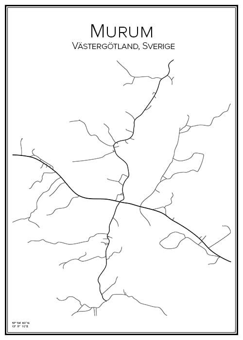 Stadskarta över Murum