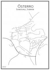 Stadskarta över Österro