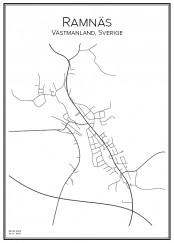 Stadskarta över Ramnäs