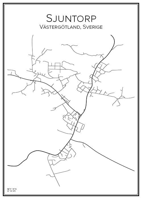 Stadskarta över Sjuntorp