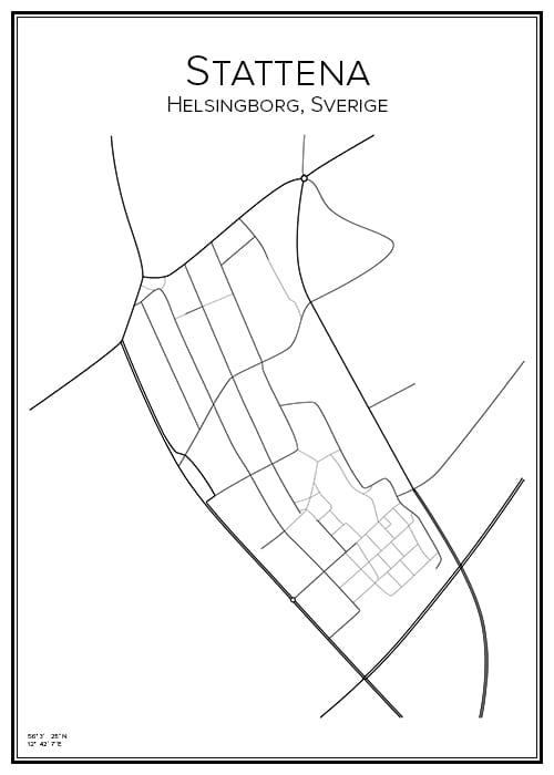 Stadskarta över Stattena