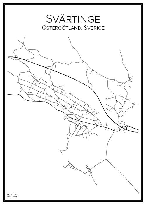 Stadskarta över Svärtinge