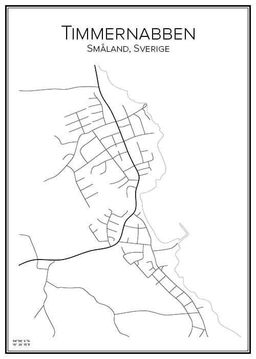 Stadskarta över Timmernabben