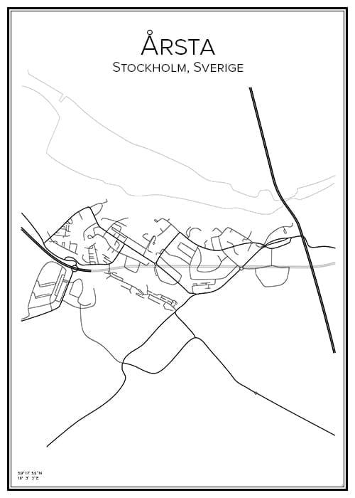 Stadskarta över Årsta