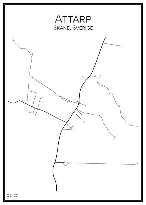 Stadskarta över Attarp