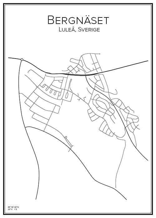 Stadskarta över Bergnäset