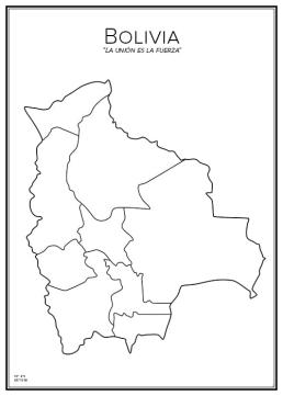 Stadskarta över Bolivia