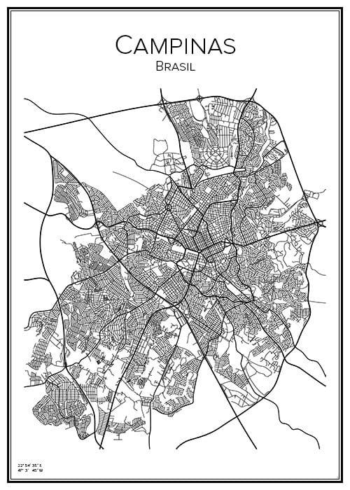 Stadskarta över Campinas