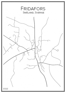 Stadskarta över Fridafors