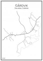 Stadskarta över Gårdvik