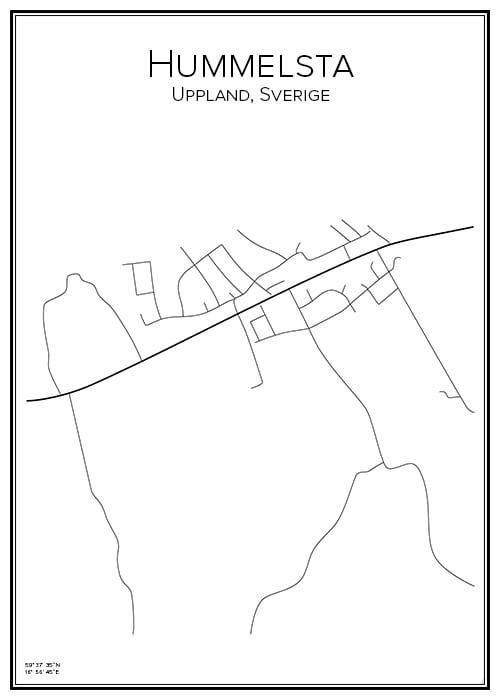 Stadskarta över Hummelsta