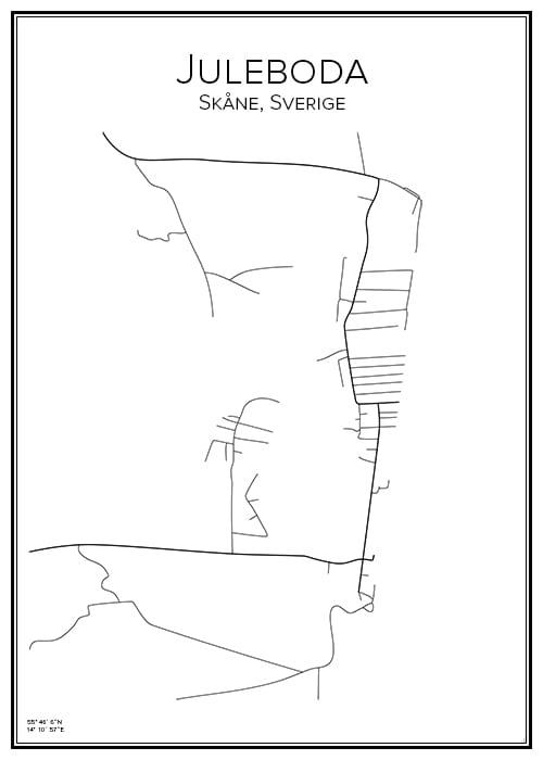 Stadskarta över Juleboda