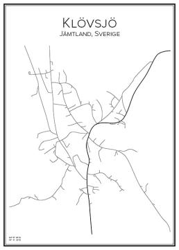 Stadskarta över Klövsjö