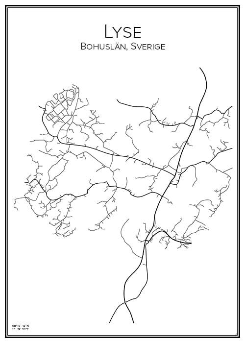 Stadskarta över Lyse