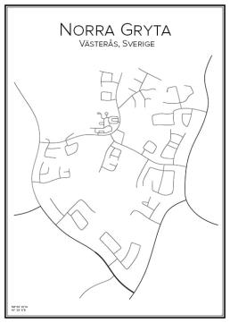 Stadskarta över Norra Gryta