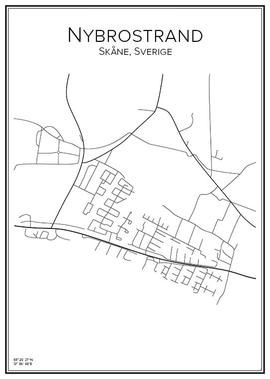 Stadskarta över Nybrostrand