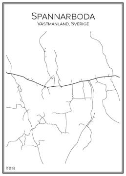Stadskarta över Spannarboda