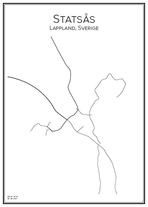Stadskarta över Statsås