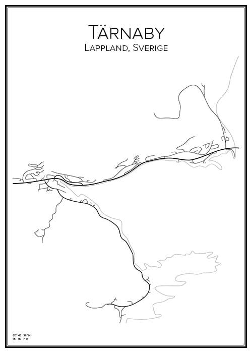 Stadskarta över Tärnaby