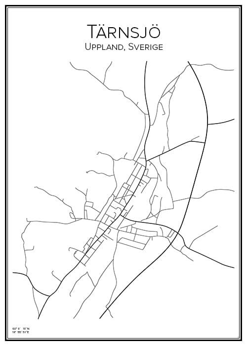 Stadskarta över Tärnsjö