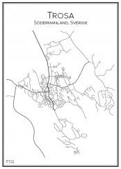 Stadskarta över Trosa