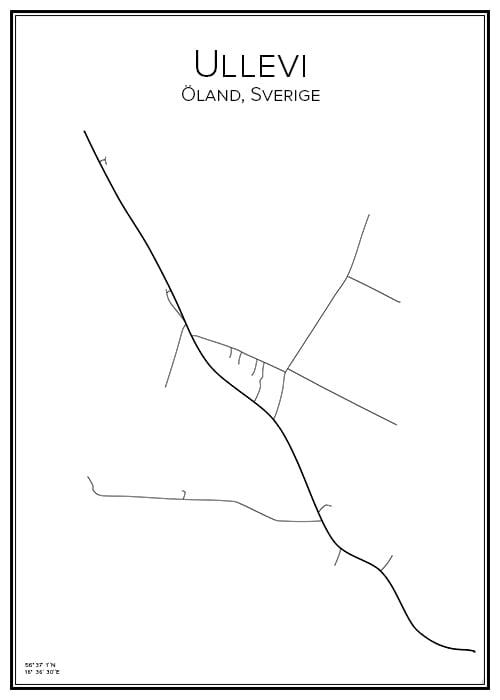 Stadskarta över Ullevi