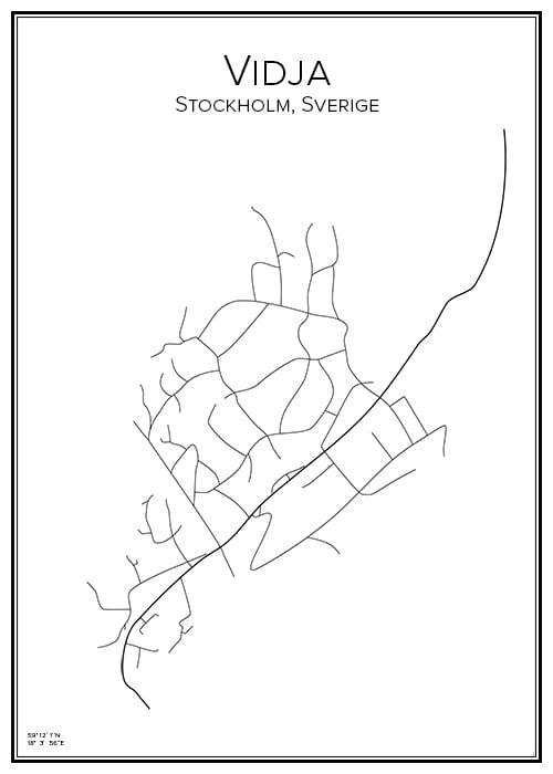 Stadskarta över Vidja
