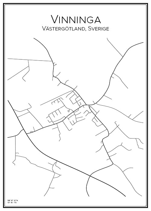 Stadskarta över Vinninga