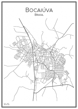 Stadskarta över Bocaiúva
