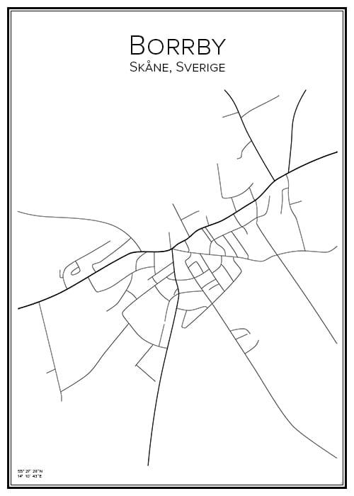 Stadskarta över Borrby