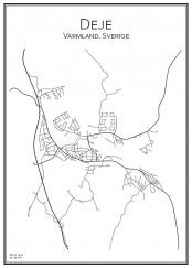 Stadskarta över Deje