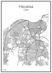 Stadskarta över Havanna