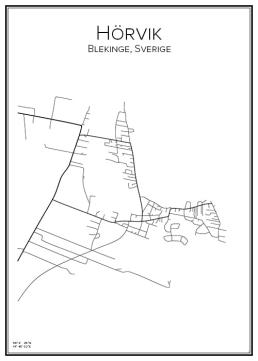 Stadskarta över Hörvik