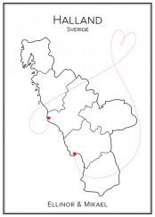 Kärlekskarta - Halland