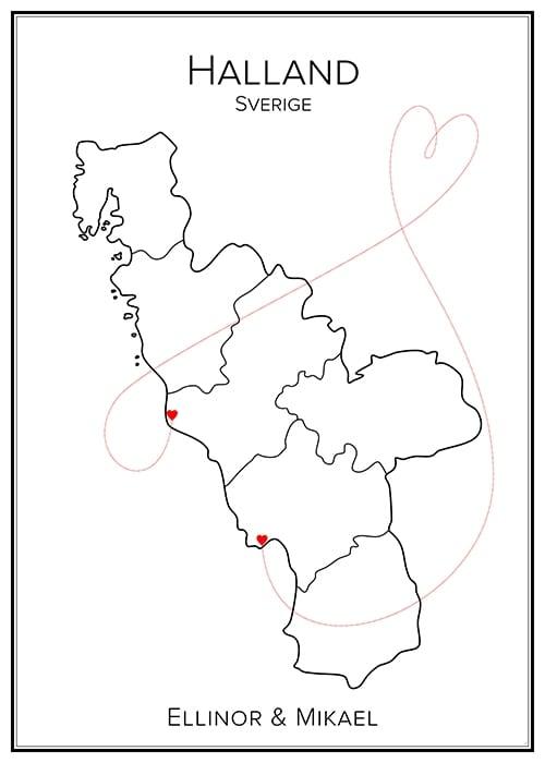 Kärlekskarta – Halland