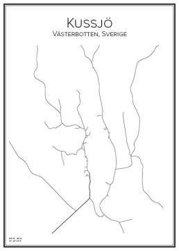 Stadskarta över Kussjö