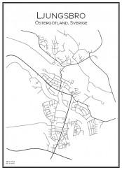 Stadskarta över Ljungsbro